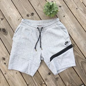 Nike Sweat Shorts with White Polka Dot Detail